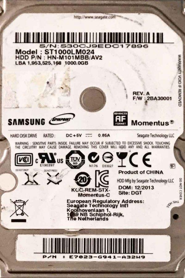 SAMSUNG 1000 GB ST1000LM024 M-REV-07