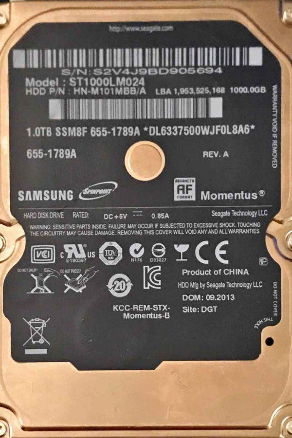 SAMSUNG 1000 GB ST1000LM024 M8 REV-06