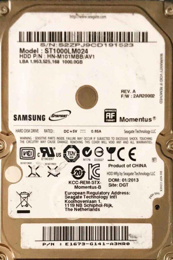 SAMSUNG 1000 GB ST1000LM024 M8 REV-07