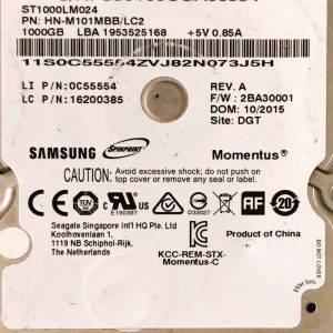 SAMSUNG 1000 GB ST1000LM024 W8 REV-07