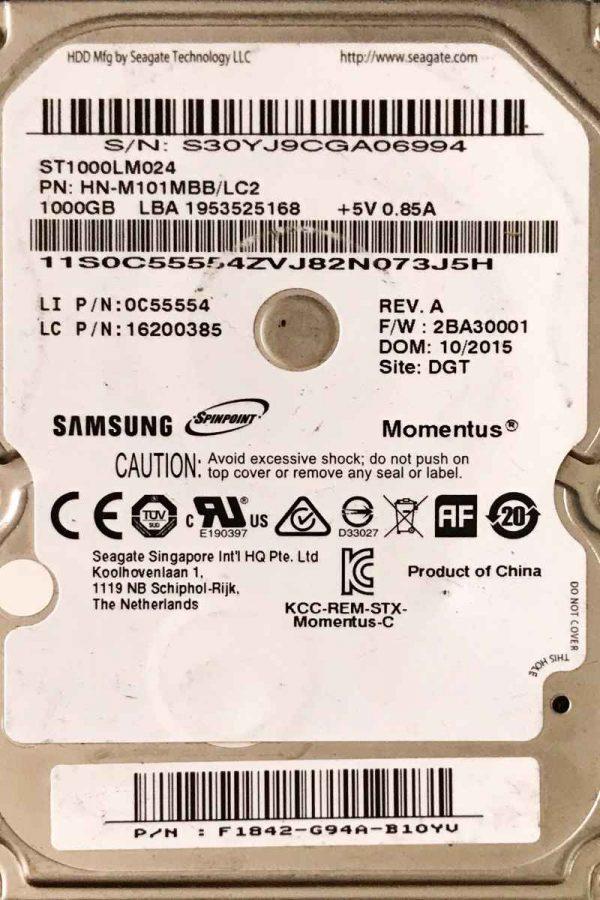 SAMSUNG 1000 GB ST1000LM024 W8 REV-07