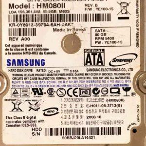 SAMSUNG 320 GB HM080II M60S BF4100105A REV-02