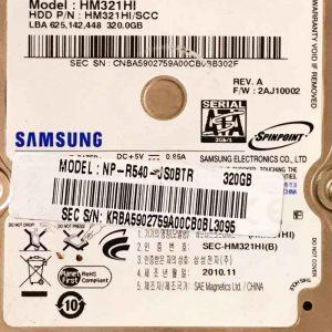 SAMSUNG 320 GB HM321HI S3M REV-02 REV-01