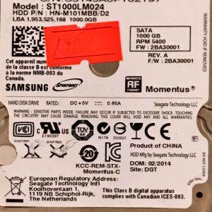 SEAGATE 1000 GB ST1000LM024 M8 REV-07