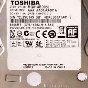 TOSHIBA 1000 GB MQ01ABD050 G003138A