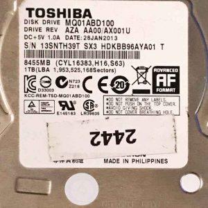 TOSHIBA 1000 GB MQ01ABD100 G003138A