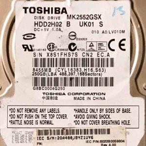 TOSHIBA 250 GB MK2555GSX G002217A