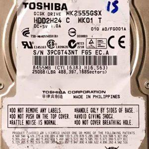 TOSHIBA 250 GB MK2555GSX G002489-0A