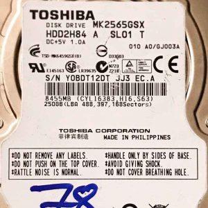 TOSHIBA 250 GB MK2565GSX G002641A