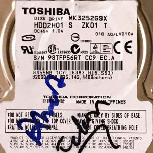 TOSHIBA 320 GB MK3252GSX G002217A
