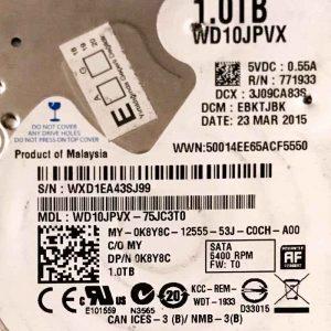 WESTERN DIGITAL 1000 GB WD10JPVX 2060771960000 REV-A