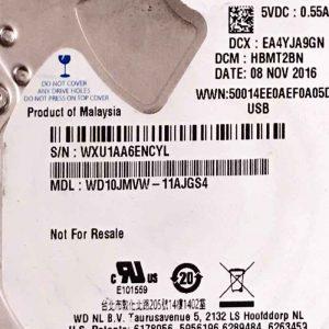 WESTERN DIGITAL 1000 GB WD10MVW 2060771960000 REV-P2