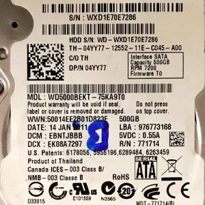 WESTERN DIGITAL 500 GB WD5000BEKT 2060771714002 REV-P1