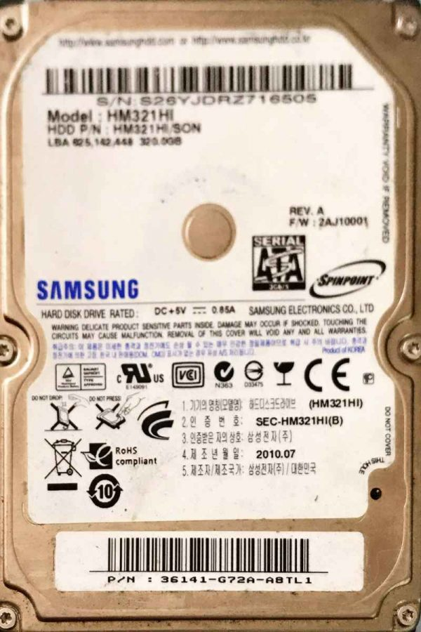 SAMSUNG 320 GB HM321HI MERCURY REV-07
