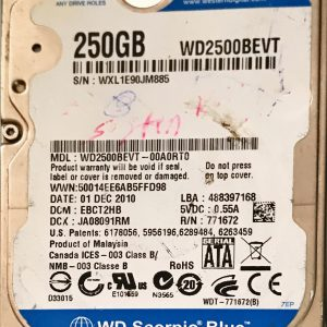 WESTERN DIGITAL 250 GB WD2500BEVT 2060771672004