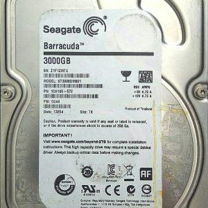 SEAGATE BARRACUDA 3TB ST3000DM001 REV C 100687658