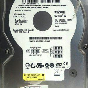 WESTERN DIGITAL 250GB WD2500JB REV A 2060-701292-002