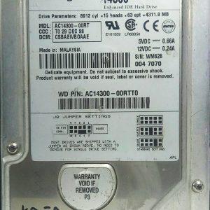 WESTERN DIGITAL 4.3GB AC14300-00RT REV A 60-600791-002
