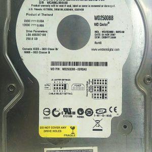 WESTERN DIGITAL 250GB WD2500BB REV A 2060-701292-002