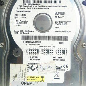 WESTERN DIGITAL 80GB WD800BB REV A 2060-701292-002