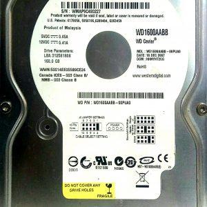 WESTERN DIGITAL 160GB WD1600AABB REV A 2060-701494-001