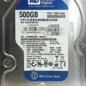 WESTERN DIGITAL 500GB WD5000AAKB REV P1 2060-701596-001