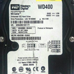 WESTERN DIGITAL 40GB WD400 REV A 2060-001292-000