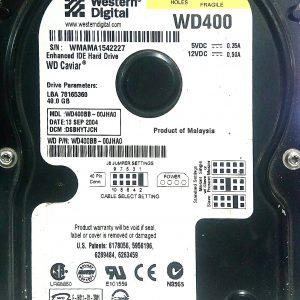 WESTERN DIGITAL 40GB WD400 REV A 2060-001290-000