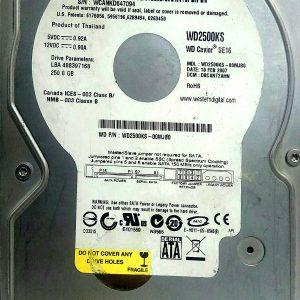 WESTERN DIGITAL 250GB WD2500KS REV A 2060-001130-012