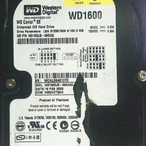 WESTERN DIGITAL 160GB WD1600 REV A 2060-001265-001