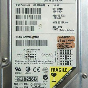 WESTERN DIGITAL 15.3GB 153AA REV A 60-600843-001