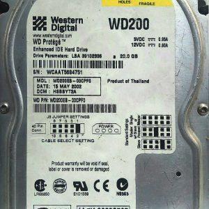 WESTERN DIGITAL 20GB WD200 REV A 2060-001113-001