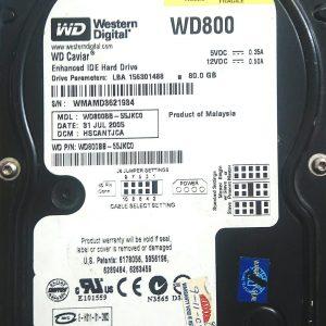WESTERN DIGITAL 80GB WD800 REV A 2060-701292-000