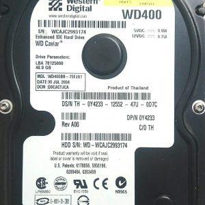 WESTERN DIGITAL 40GB WD400 REV A 2060-001130-012
