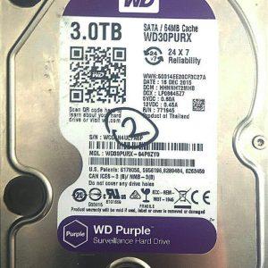 WESTERN DIGITAL 3TB WD30PURX REV A 2060-771945-002