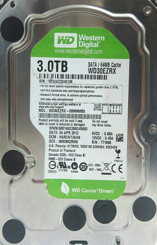 WESTERN DIGITAL 3TB WD30EZRX REV A 2060-771698-004
