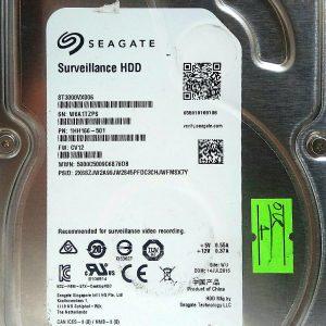 SEAGATE SURVEILLANCE HDD 3TB ST3000VX006 REV A 100724095