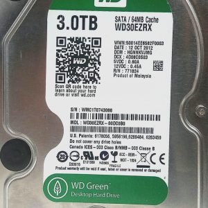 WESTERN DIGITAL 3TB WD30EZRX REV P1 2060-771824-003
