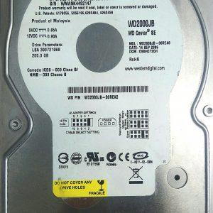 WESTERN DIGITAL 200GB WD2000JB REV A 2060-701292-002