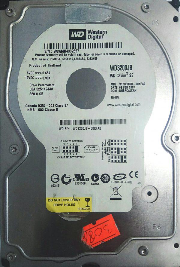 WESTERN DIGITAL 320GB WD3200JB REV A 2060-701314-003