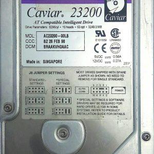 WESTERN DIGITAL CAVIAR 23200 3.2GB AC-23200-00LB REV A 60-600707-004