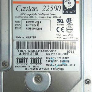 WESTERN DIGITAL CAVIAR 22500 2.5GB AC22500-23LA REV A 60-600715-001
